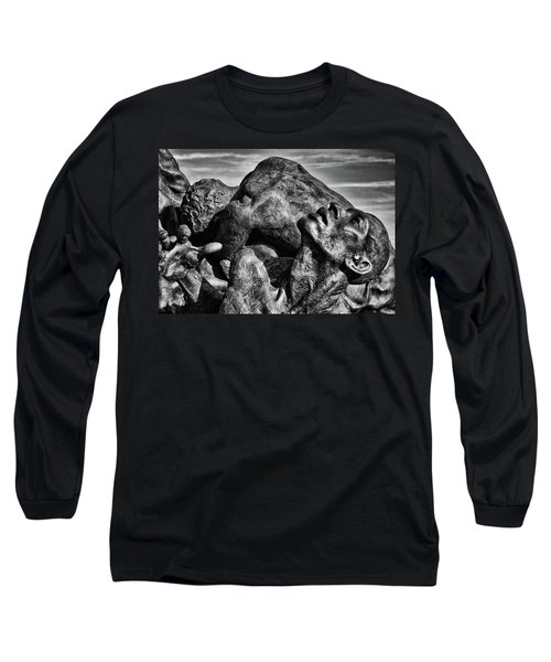 Torment In Black And White Long Sleeve T-Shirt