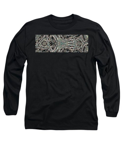 Long Sleeve T-Shirt featuring the digital art Torn Patterns by Ron Bissett