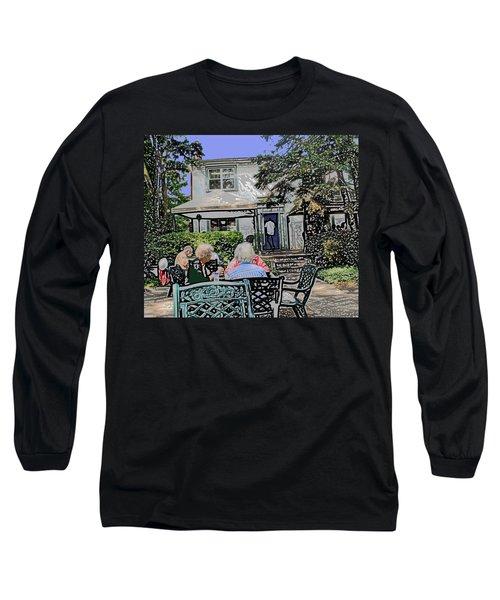 Toronto Island Restaurant Long Sleeve T-Shirt by Ian  MacDonald