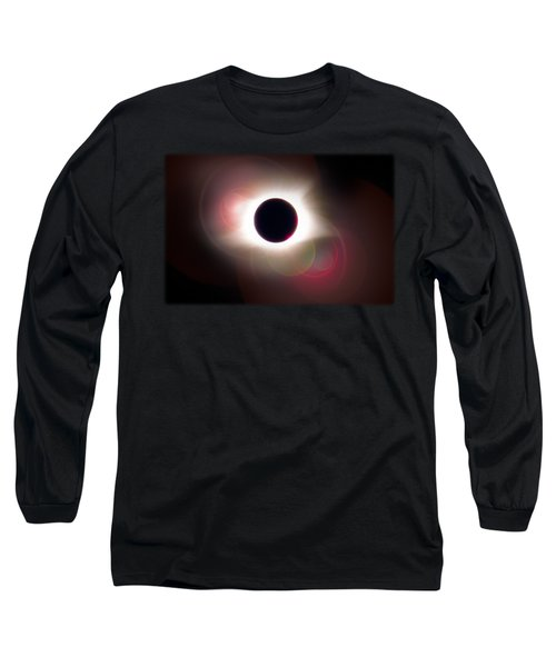 Total Eclipse Of The Sun T Shirt Art With Solar Flares Long Sleeve T-Shirt