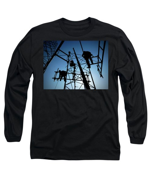 Long Sleeve T-Shirt featuring the photograph Tower Tech by Robert Geary
