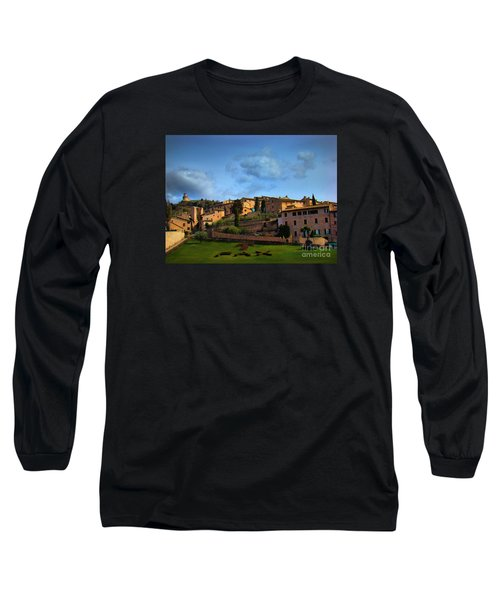 Town Of Assisi, Italy II Long Sleeve T-Shirt by Al Bourassa
