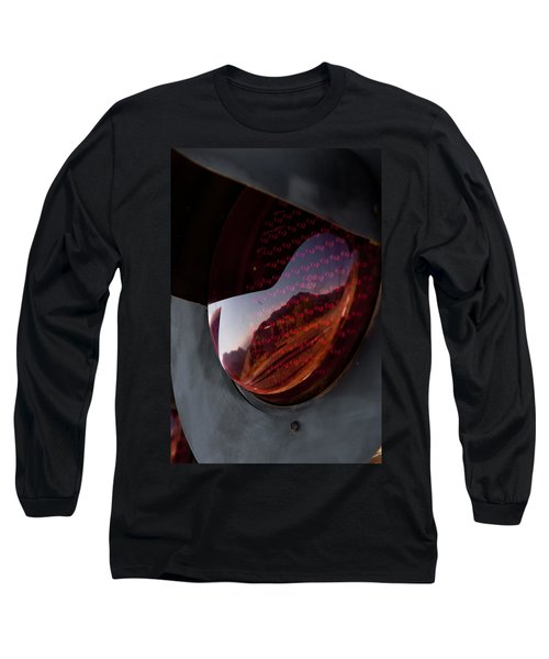 Long Sleeve T-Shirt featuring the photograph Track Reflections by Colleen Coccia