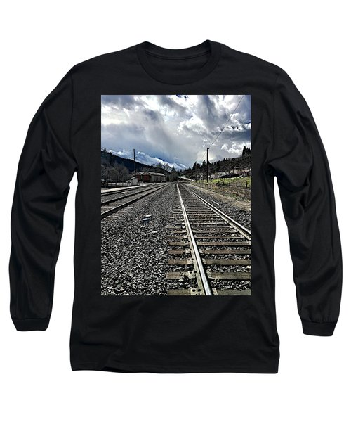 Long Sleeve T-Shirt featuring the photograph Tracks by JoAnn Lense