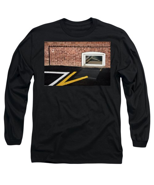 Long Sleeve T-Shirt featuring the photograph Traffic Line Conversion In Window by Gary Slawsky