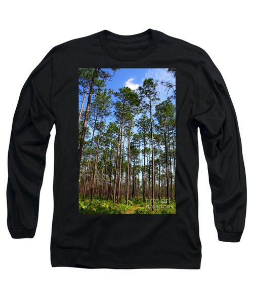 Trail Through The Pine Forest Long Sleeve T-Shirt