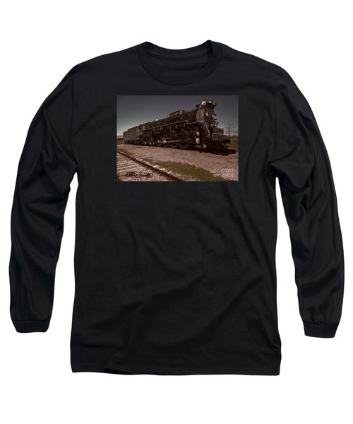 Train Engine # 2732 Long Sleeve T-Shirt by Melissa Messick