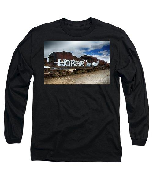 Train Graveyard Uyuni Bolivia 13 Long Sleeve T-Shirt