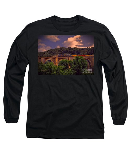 Long Sleeve T-Shirt featuring the photograph Train Trestle Over The James by Melissa Messick