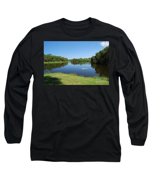 Long Sleeve T-Shirt featuring the photograph Tranquil Lake by Gary Wonning