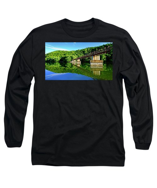 Tranquility At The James River Footbridge Long Sleeve T-Shirt