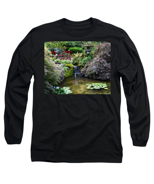 Tranquility In A Japanese Garden Long Sleeve T-Shirt