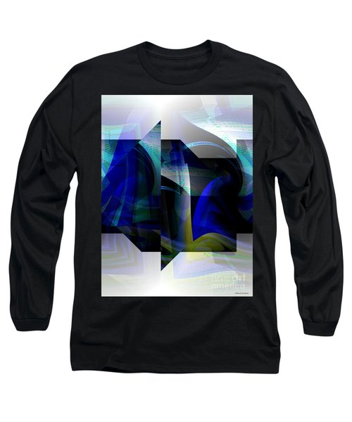Geometric Transparency  Long Sleeve T-Shirt by Thibault Toussaint