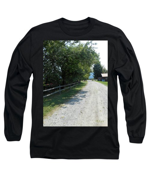 Trapp Family Lodge Rustic Road Long Sleeve T-Shirt by Felipe Adan Lerma