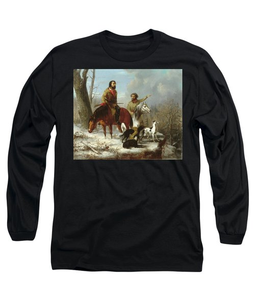 Long Sleeve T-Shirt featuring the painting Trappers             by Trego and Williams