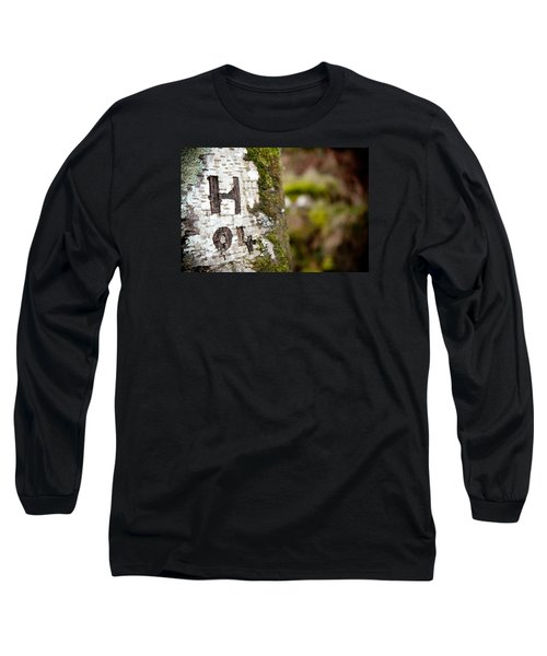 Tree Bark Graffiti - H 04 Long Sleeve T-Shirt