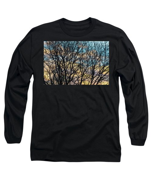 Long Sleeve T-Shirt featuring the photograph Tree Branches And Colorful Clouds by James BO Insogna