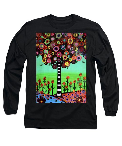 Long Sleeve T-Shirt featuring the painting Tree Of Life by Pristine Cartera Turkus