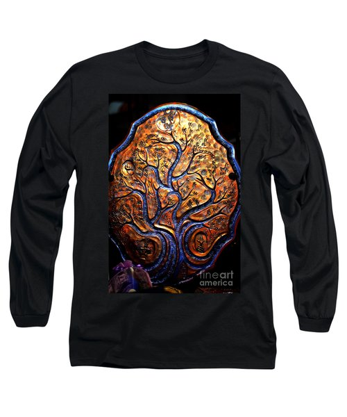 Long Sleeve T-Shirt featuring the ceramic art Tree Of Life by Susanne Still