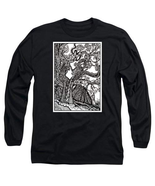 Tree On A Hillside Long Sleeve T-Shirt