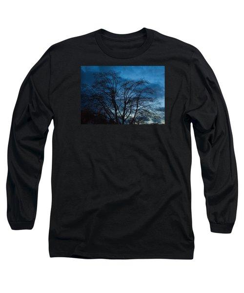 Trees At Dusk Long Sleeve T-Shirt by John Rossman