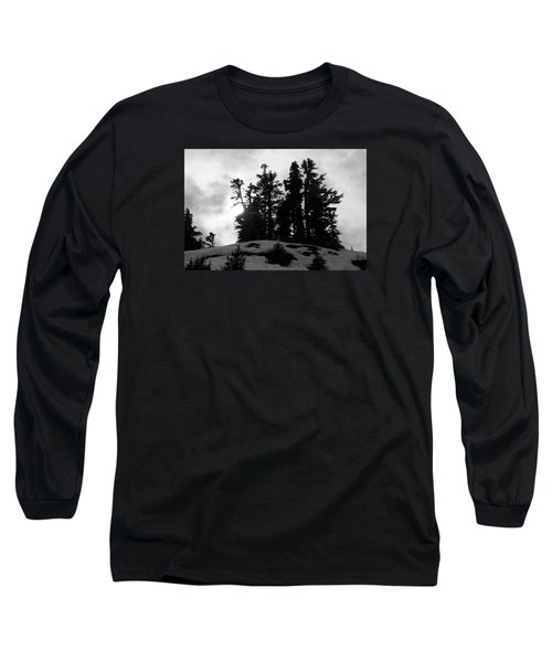 Long Sleeve T-Shirt featuring the photograph Trees Silhouettes by Yulia Kazansky
