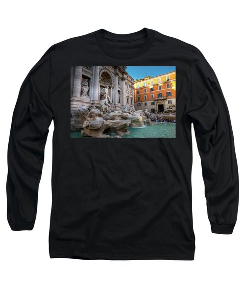 Trevi Fountain Long Sleeve T-Shirt by Fink Andreas