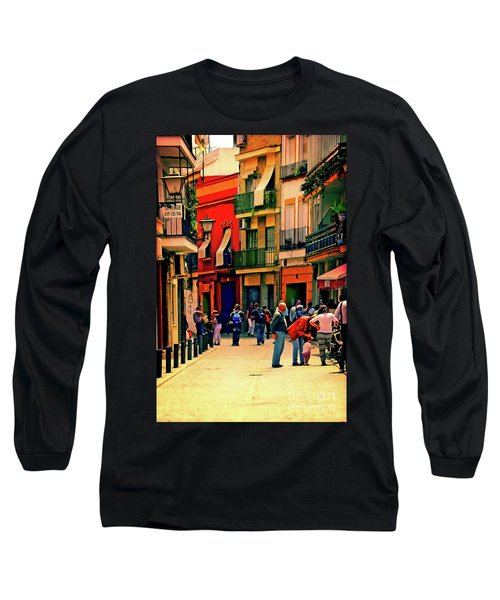 Long Sleeve T-Shirt featuring the photograph Triana On A Sunday Afternoon 3 by Mary Machare