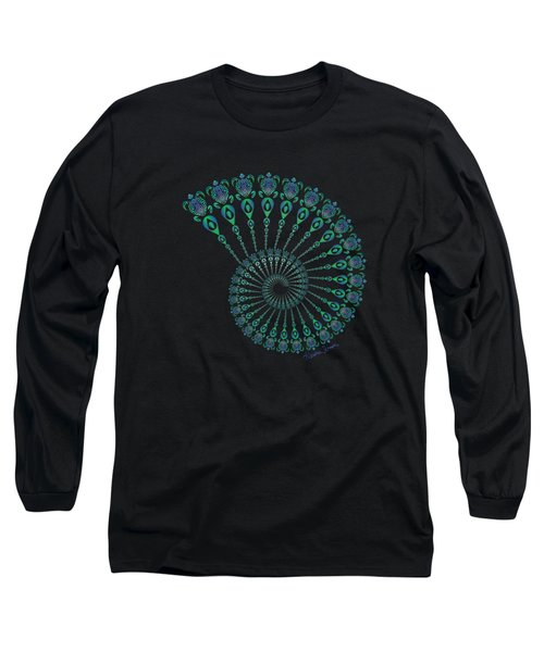 Tribal Turtle Spiral Shell Long Sleeve T-Shirt