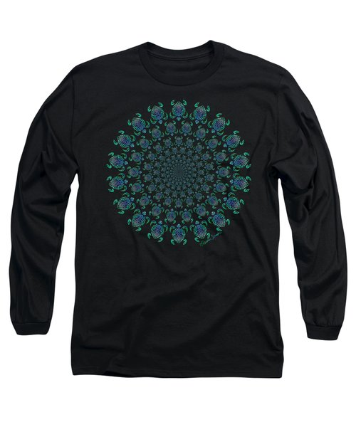Tribal Turtle Tunnel Long Sleeve T-Shirt