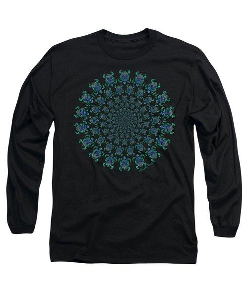Tribal Turtle Tunnel Long Sleeve T-Shirt