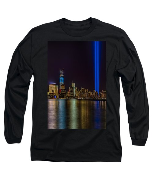 Long Sleeve T-Shirt featuring the photograph Tribute In Lights Memorial by Susan Candelario