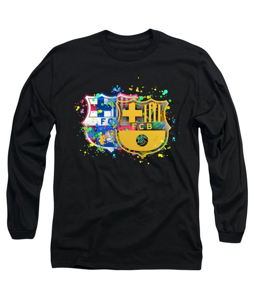 Tribute To Fc Barcelona 8 Long Sleeve T-Shirt by Alberto RuiZ
