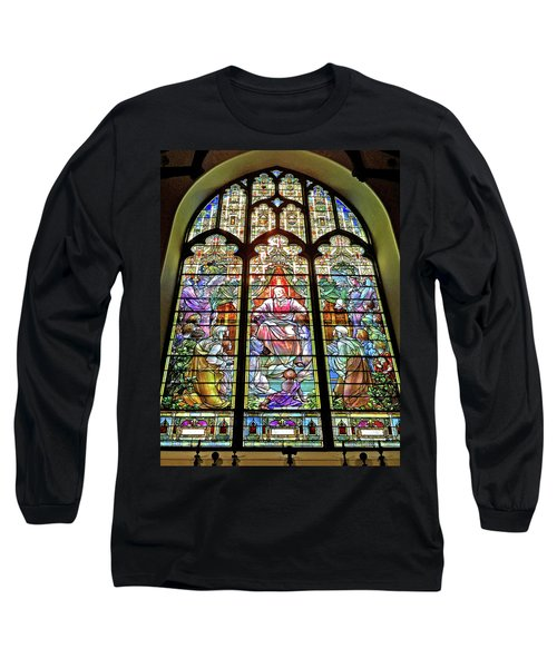 Long Sleeve T-Shirt featuring the photograph Trinity Church Galveston by Wilhelm Hufnagl