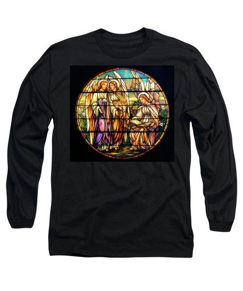Trio Of Angels Long Sleeve T-Shirt by Kristin Elmquist