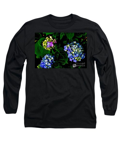 Long Sleeve T-Shirt featuring the photograph Triple Hydrangia In Spring by Marsha Heiken