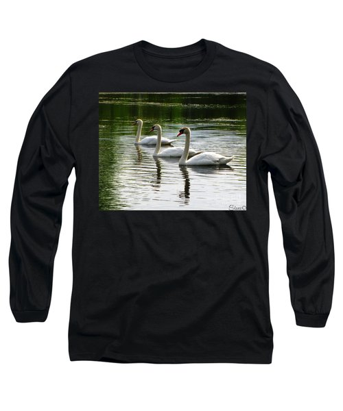 Triplet Swans Long Sleeve T-Shirt