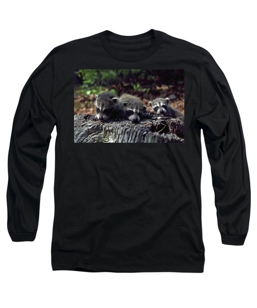 Long Sleeve T-Shirt featuring the photograph Triplets by Sally Weigand