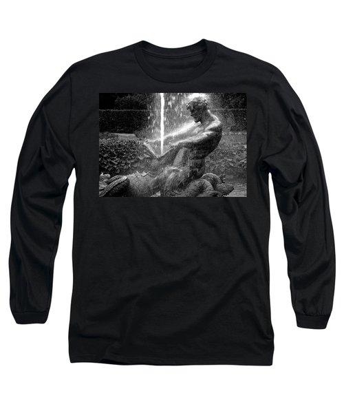 Triton Fountain Long Sleeve T-Shirt by Alex Galkin