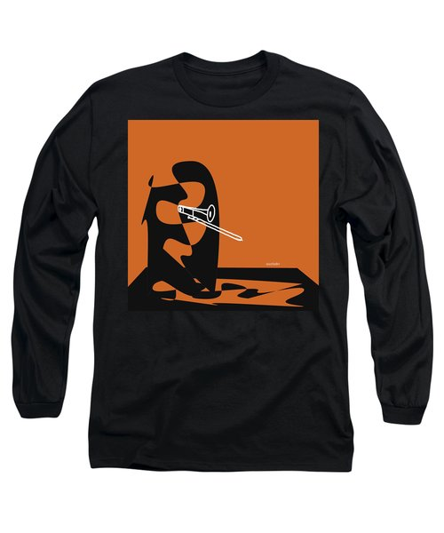 Trombone In Orange Long Sleeve T-Shirt