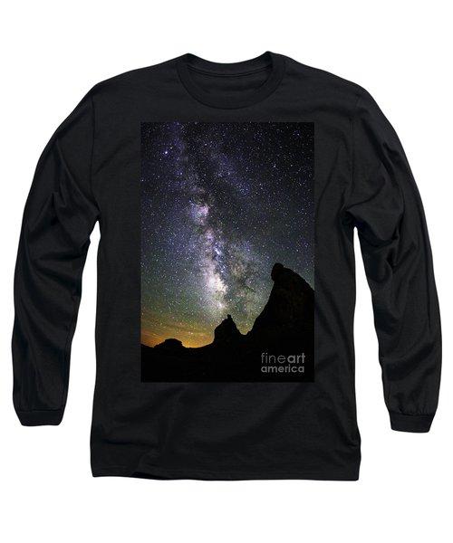 Trona Pinnacles Milky Way Long Sleeve T-Shirt