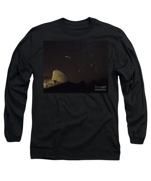 Trona Pinnacles Perseids Meteor Shower Long Sleeve T-Shirt