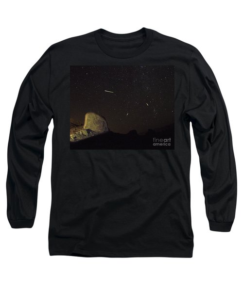 Trona Pinnacles Perseids Meteor Shower Long Sleeve T-Shirt