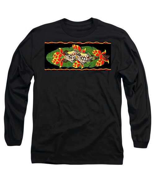 Long Sleeve T-Shirt featuring the painting Tropical Fish by Debbie Chamberlin