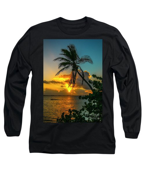 Tropical Lagoon Sunrise Long Sleeve T-Shirt