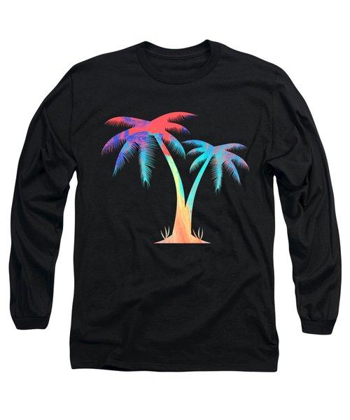 Tropical Palm Trees Long Sleeve T-Shirt
