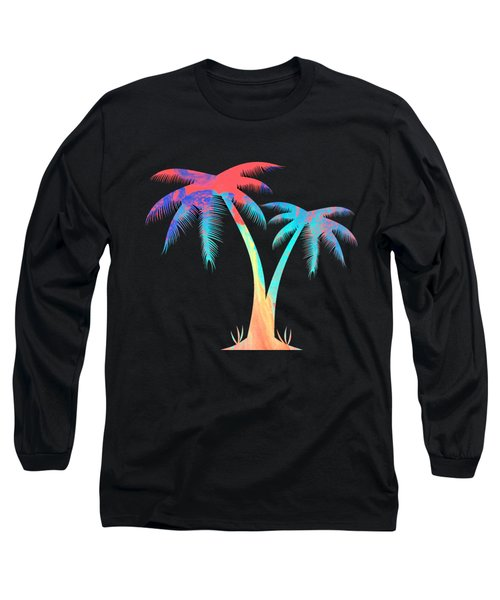 Tropical Palm Trees Long Sleeve T-Shirt
