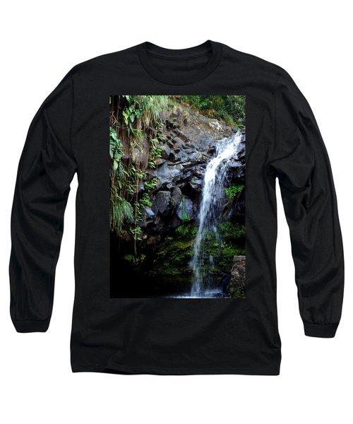 Tropical Waterfall Long Sleeve T-Shirt