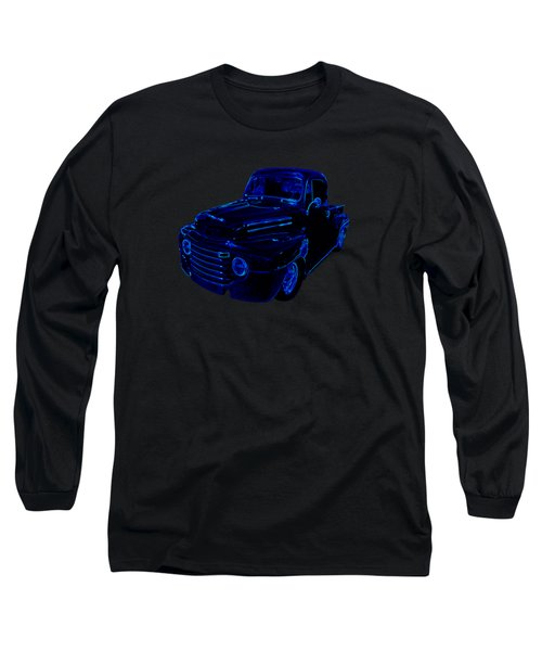 Truck Art Neon Blue Long Sleeve T-Shirt