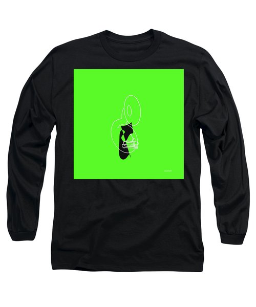 Tuba In Green Long Sleeve T-Shirt